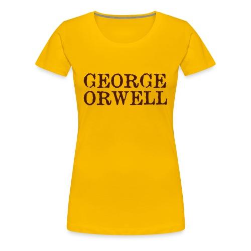 George Orwell Ladies Bibliography T-Shirt - Women's Premium T-Shirt