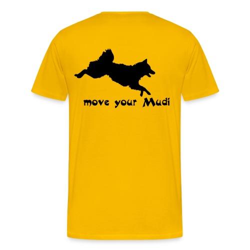 Move your Mudi black yellow - Men's Premium T-Shirt