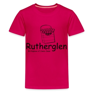 Rutherglen Comic Sans - Teenage Premium T-Shirt