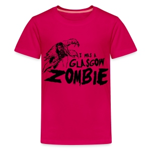 Glasgow Zombie - Teenage Premium T-Shirt