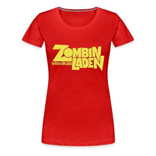 ZOMBINLADEN YELLOW LOGO WOMEN TSHIRT - T-shirt Premium Femme