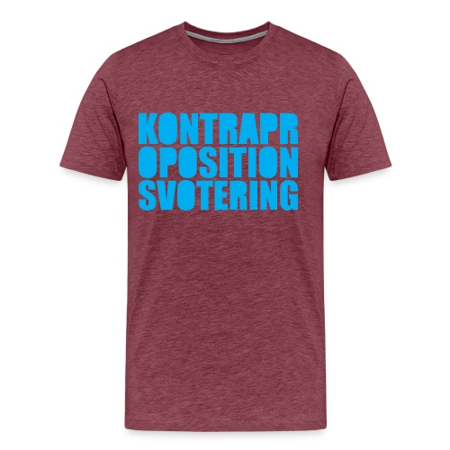 Kontrapropositionsvotering - Lila/Turkos - Premium-T-shirt herr