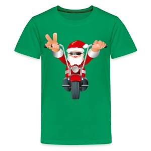 Biker Christmas (child) - Teenage Premium T-Shirt