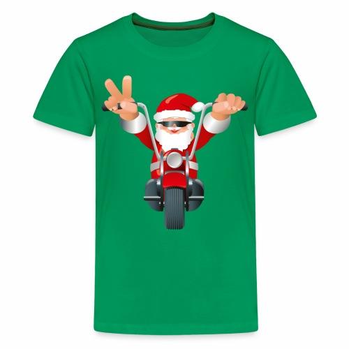 Biker Christmas (child) - Teenage Premium T-Shirt