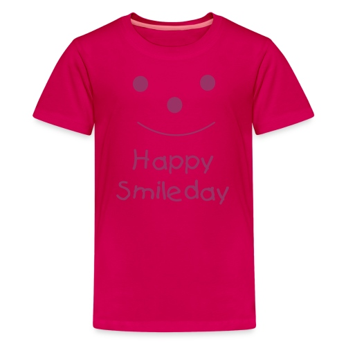 Happy Smileday - Pink Glitter - Teenage Premium T-Shirt