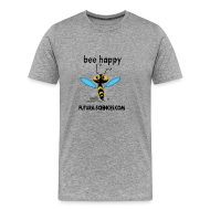 Tee shirts ~ Tee shirt Premium Homme ~ Abeille Bee happy homme gris