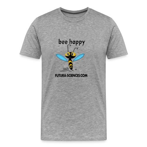 Abeille Bee happy homme gris - T-shirt Premium Homme