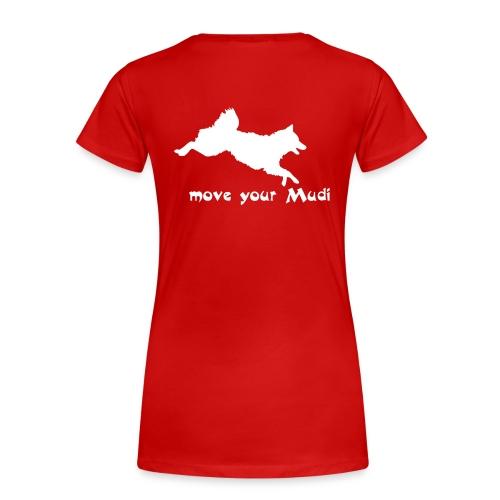Move your Mudi White red - Women's Premium T-Shirt
