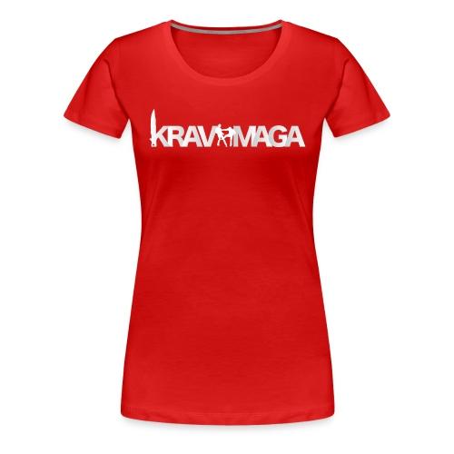 T-shirt Krav Maga Femme Rubis - T-shirt Premium Femme