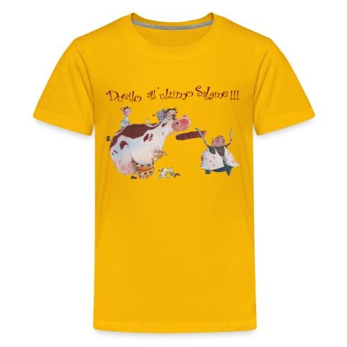 Duello all'ultimo salame - Maglietta Premium per ragazzi