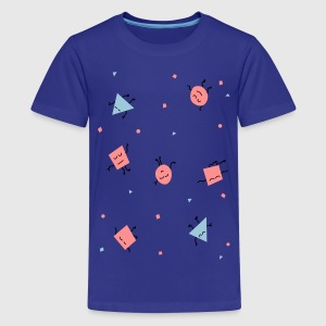 Flächenland - triangles Kinder T-Shirts - Teenager Premium T-Shirt