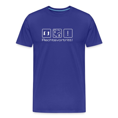 Herren-Shirt «Rechtsvortritt!»  - Männer Premium T-Shirt