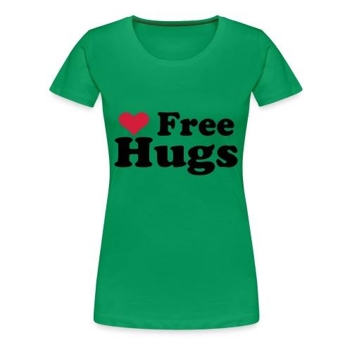 free hugs maggiespam - Premium T-skjorte for kvinner
