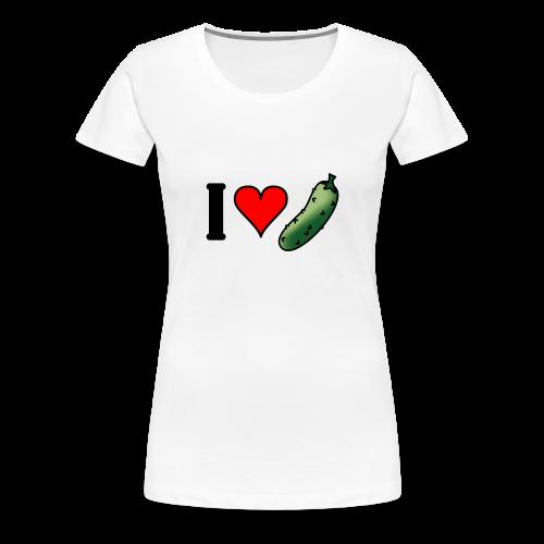 I love augurken, zwangerschapsshirt - Vrouwen Premium T-shirt