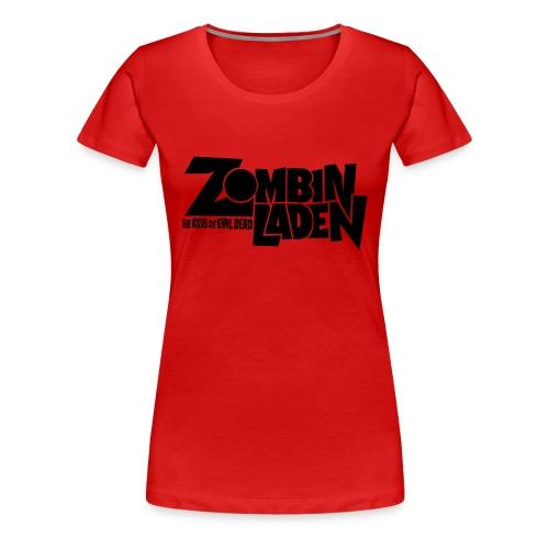 ZOMBINLADEN Black LOGO WOMEN TSHIRT - T-shirt Premium Femme