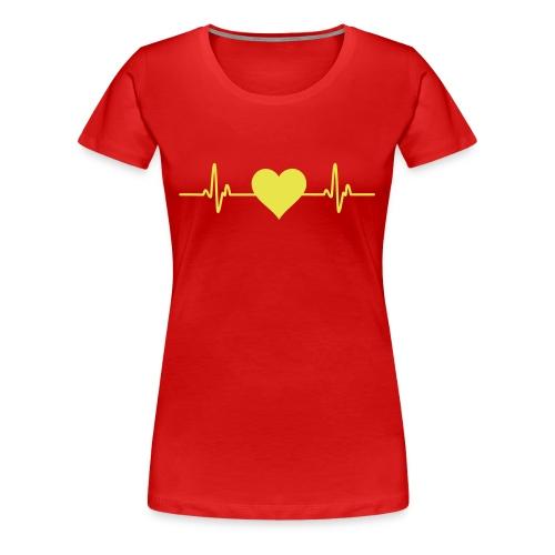 hjerte genser - dame - Premium T-skjorte for kvinner
