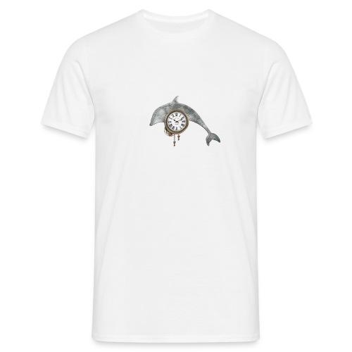 «Reloj-delfín» - Camiseta hombre