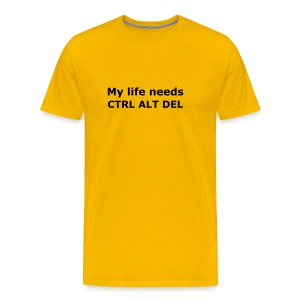 My Life Needs CTRL ALT DEL - Men's Premium T-Shirt