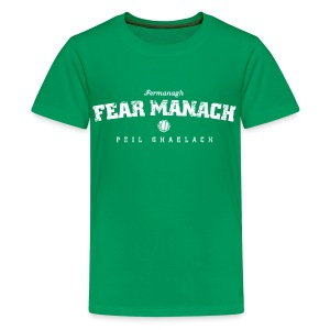 Vintage Fermanagh Football T-Shirt - Teenage Premium T-Shirt