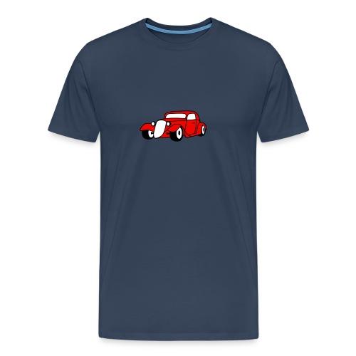 Flockdruck - Hot Rod Oldtimer Custom Car Sweatshirt & T-Shirt - Männer Premium T-Shirt