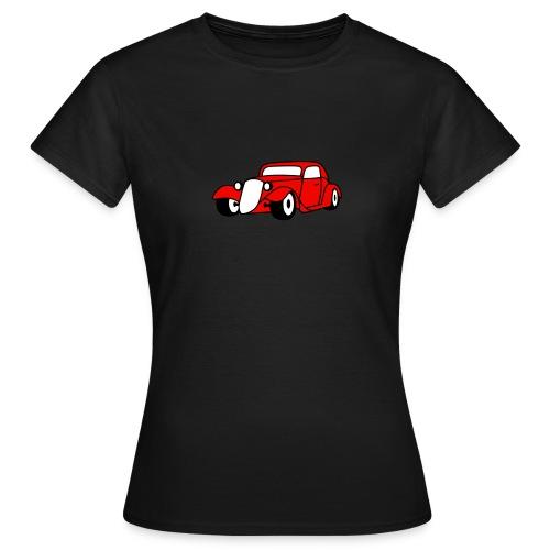 Flockdruck - Hot Rod Oldtimer Custom Car Sweatshirt & T-Shirt - Frauen T-Shirt