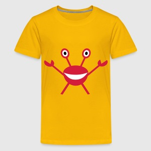 Krabbe - Crabby Krebs Kinder T-Shirts - Teenager Premium T-Shirt