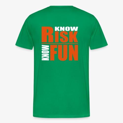 know risk / know fun - grün (men) - Männer Premium T-Shirt