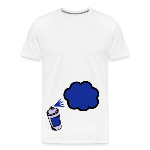 Blå kill youreself splat Tee - Herre premium T-shirt