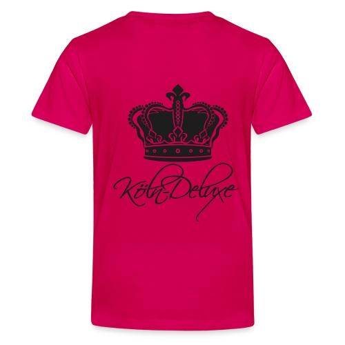 einfarbiges Köln Deluxe Kronen Motiv - Teenager Premium T-Shirt