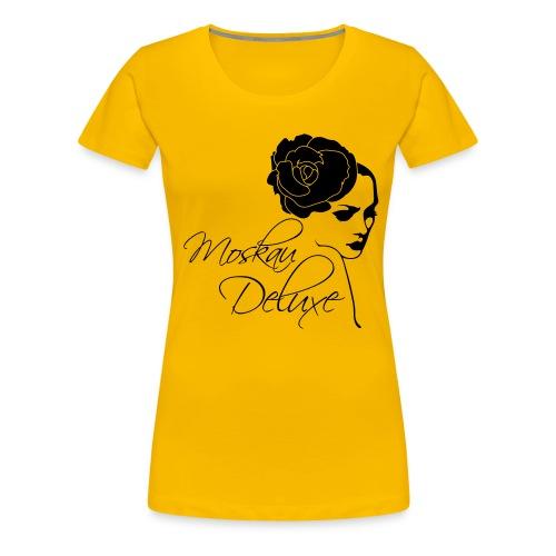 einfarbiges Moskau Deluxe Motiv - Frauen Premium T-Shirt