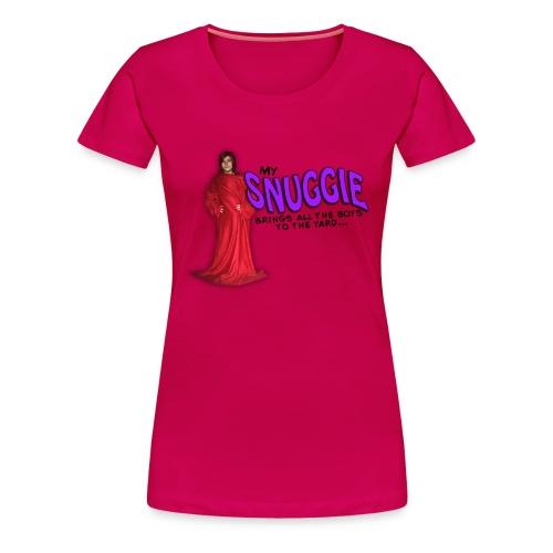 Frauen Premium T-Shirt - I make Milkshake - why no boys in my yard? Mit diesem Shirt, das die gemütlichen Seiten des Lebens betont (eine Decke mit Ärmeln? Ja, bitte!) sind dir alle Boys sicher.