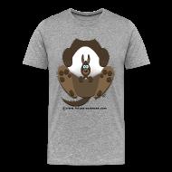 Tee shirts ~ T-shirt Premium Homme ~ Kangourou homme gris perle