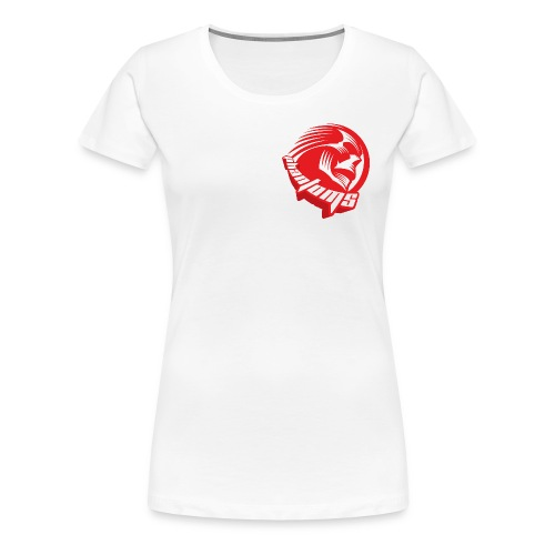 Women's Premium T-Shirt - Womens t-shirt with small Phantoms roundel on the chest and full Phantoms Sledge Hockey logo on the reverse. Choice of colours available.