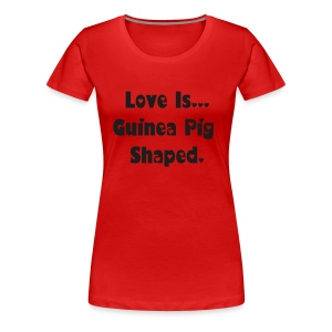 Love Is... Black Glitter Print - Women's Premium T-Shirt