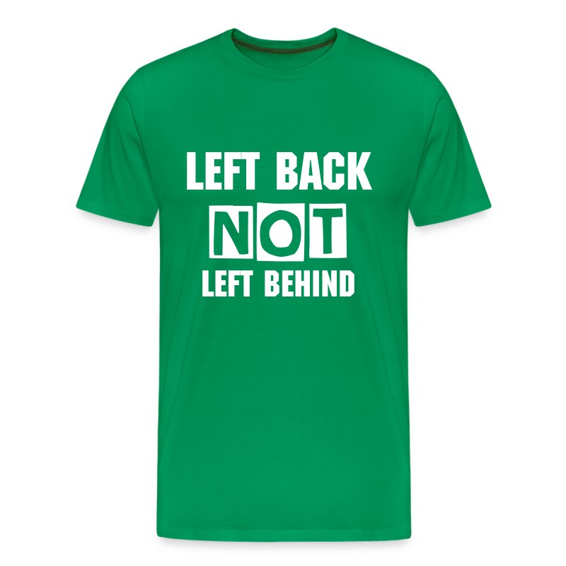 LB with Back Print - Men's Premium T-Shirt