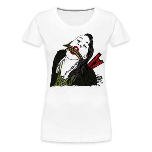 bondage ui yours - Frauen Premium T-Shirt