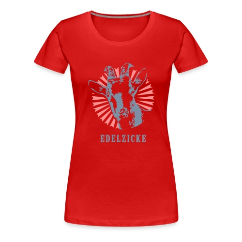Edelzicke Rot - Frauen Premium T-Shirt