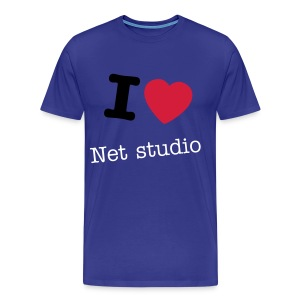 I LOVE Net Studio - man - Mannen Premium T-shirt