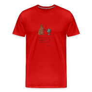 T-Shirts ~ Men's Premium T-Shirt ~ Pipe smoking rabbit - Mens colours