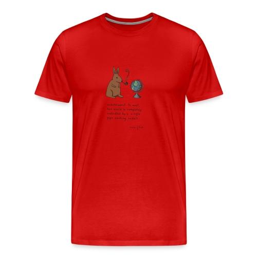 Pipe smoking rabbit - Mens colours - Men's Premium T-Shirt