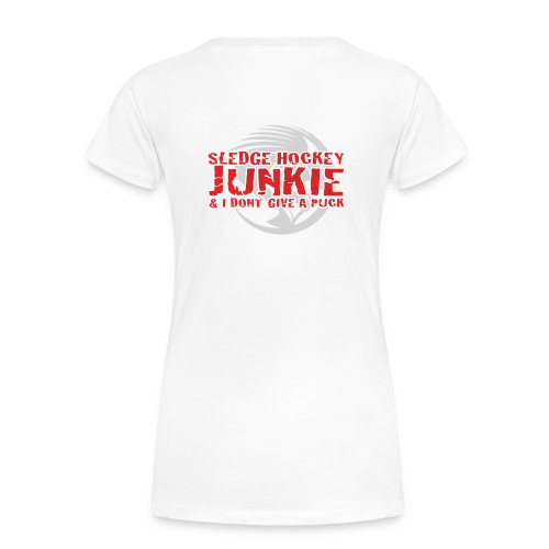 Women's Premium T-Shirt - Womens t-shirt with large Phantoms roundel on the chest and Sledge Hockey Junkie logo on the reverse. Choice of colours available.