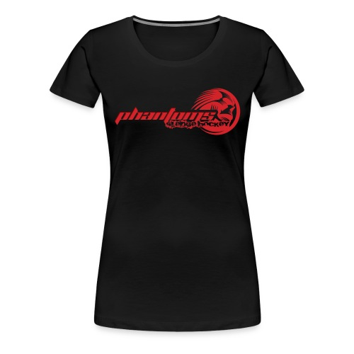 Women's Premium T-Shirt - Womens t-shirt with full Phantoms Sledge Hockey logo across the chest wit large Phantoms roundel on the back. Choice of colours available.