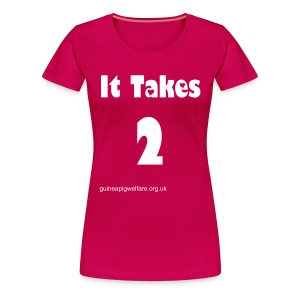 It Takes 2 White Flock  Print - Women's Premium T-Shirt