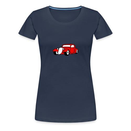 Flockdruck - Hot Rod Oldtimer Custom Car Sweatshirt & T-Shirt - Frauen Premium T-Shirt
