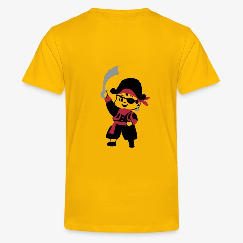 Pirate Kid Billy design by Patjila - Teenage Premium T-Shirt