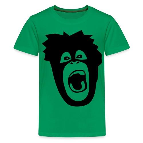 Tier Shirt Affe Gorilla Schimpanse Orang Utan Monkey Ape King Kong Godzilla - Teenager Premium T-Shirt