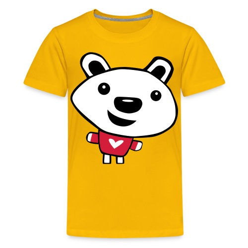 Happy Polar Bear - Teenage Premium T-Shirt