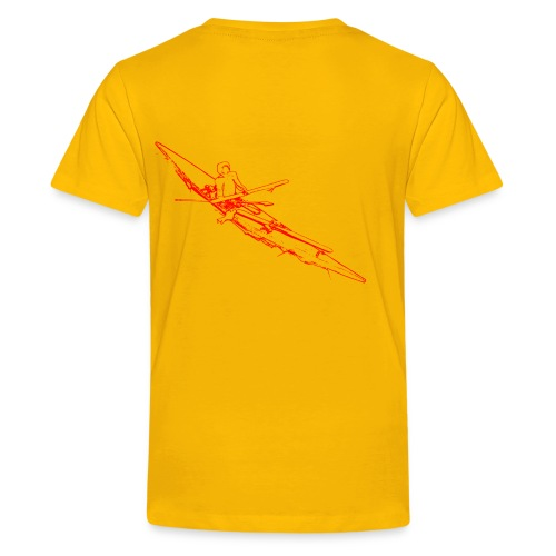 T-shirt Premium Ado - dessin du kayak répertorié par Howard Chapelle