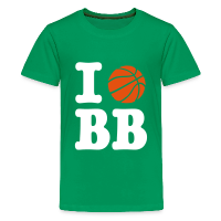 Tee shirt Premium Ado avec motif J'aime Basket-ball Basketball Basket