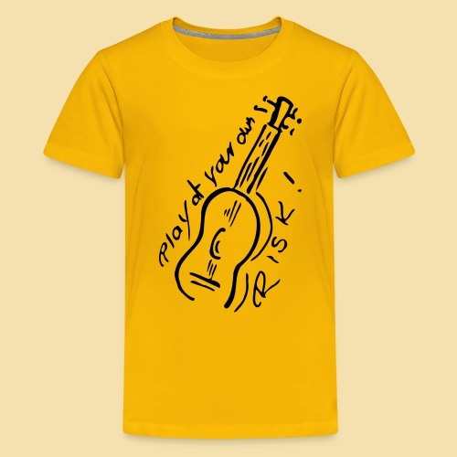 Kidshirt: Play at your own RISK (Motiv: schwarz) - Teenager Premium T-Shirt